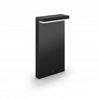 PHILIPS 17455/30/P7 | PHILIPS-hue-Nyro Philips stojaté hue múdre osvetlenie štvoruholník 4cm regulovateľná intenzita svetla, nastaviteľná farebná teplota, meniace farbu 1x LED 1000lm 2700 <-> 6500K IP44 čierna, biela