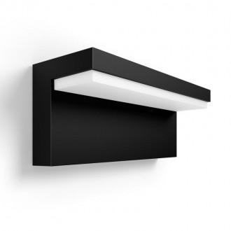 PHILIPS 17456/30/P7 | PHILIPS-hue-Nyro Philips stenové hue múdre osvetlenie štvoruholník regulovateľná intenzita svetla, nastaviteľná farebná teplota, meniace farbu 1x LED 1000lm 2700 <-> 6500K IP44 čierna, biela