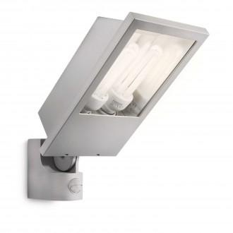 PHILIPS 17516/87/16 | Botanic Philips svetlomet svietidlo pohybový senzor 2x E27 2860lm 2700K IP44 svetlo šedá
