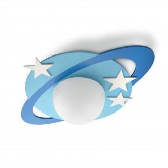 PHILIPS 30501/35/P0 | Cronos Philips stropné svietidlo 1x E27 1055lm 2700K modrá, biela