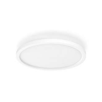 PHILIPS 32164/31/P6 | PHILIPS-hue-Aurelle Philips stropné hue DIM prenosný vypínač + hue múdre osvetlenie kruhový diaľkový ovládač regulovateľná intenzita svetla, nastaviteľná farebná teplota, Bluetooth 1x LED 2200lm 2200 <-> 6500K biela
