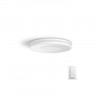 PHILIPS 32610/31/P7 | PHILIPS-hue_Being Philips stropné hue múdre osvetlenie kruhový diaľkový ovládač regulovateľná intenzita svetla, nastaviteľná farebná teplota 1x LED 2400lm 2200 <-> 6500K biela