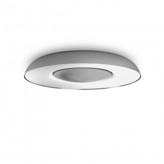 PHILIPS 32613/48/P6 | PHILIPS-hue-Still Philips stropné hue DIM prenosný vypínač + hue múdre osvetlenie kruhový diaľkový ovládač regulovateľná intenzita svetla, nastaviteľná farebná teplota, Bluetooth 1x LED 2400lm 2200 <-> 6500K hliník, biela