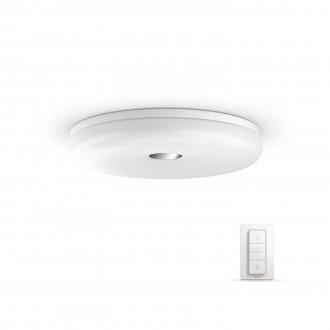 PHILIPS 33064/31/P7 | PHILIPS-hue_Struana Philips stropné hue múdre osvetlenie kruhový diaľkový ovládač regulovateľná intenzita svetla, nastaviteľná farebná teplota 1x LED 2400lm 2200 <-> 6500K IP44 biela
