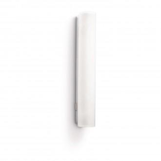 PHILIPS 34093/11/16 | Vitalise Philips stenové svietidlo prepínač navrhované na úsporné žiarovky 1x G5 / T5 470lm 2700K IP44 biela