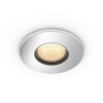 PHILIPS 34175/11/P9 | PHILIPS-hue-Adore Philips zabudovateľné hue múdre osvetlenie kruhový regulovateľná intenzita svetla, nastaviteľná farebná teplota, Bluetooth Ø94mm 1x GU10 350lm 2200 <-> 6500K chróm