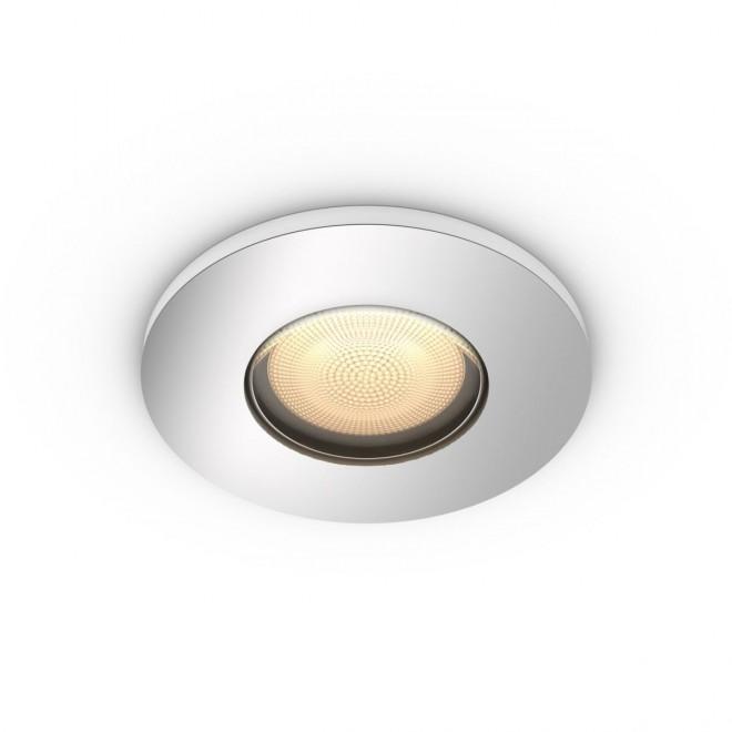 PHILIPS 34175/11/P9   PHILIPS-hue-Adore Philips zabudovateľné hue múdre osvetlenie kruhový regulovateľná intenzita svetla, nastaviteľná farebná teplota, Bluetooth Ø94mm 1x GU10 350lm 2200 <-> 6500K chróm