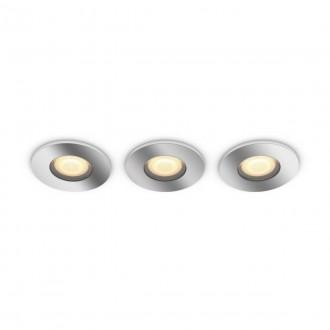 PHILIPS 34176/11/P6 | PHILIPS-hue-Adore Philips zabudovateľné hue DIM prenosný vypínač + hue múdre osvetlenie kruhový diaľkový ovládač regulovateľná intenzita svetla, nastaviteľná farebná teplota, Bluetooth, 3 dielna súprava Ø94mm 3x GU10 1050lm 2200 <