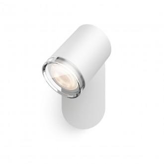 PHILIPS 34178/31/P6   PHILIPS-hue-Adore Philips spot hue DIM prenosný vypínač + hue múdre osvetlenie kruhový diaľkový ovládač regulovateľná intenzita svetla, nastaviteľná farebná teplota, Bluetooth 1x GU10 350lm 2200 <-> 6500K IP44 biela