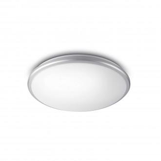 PHILIPS 34347/87/P0 | Guppy Philips stenové, stropné svietidlo kruhový 1x LED 1700lm 2700K IP44 sivé, biela