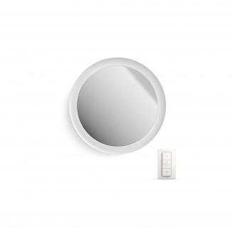 PHILIPS 34357/31/P7 | PHILIPS-hue_Adore Philips stenové hue múdre osvetlenie diaľkový ovládač regulovateľná intenzita svetla, nastaviteľná farebná teplota, meniace farbu 1x LED 2400lm 2200 <-> 6500K IP44 biela, zrkalový