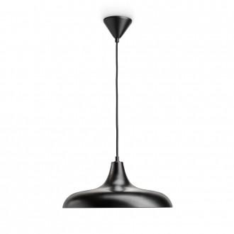 PHILIPS 36032/30/E7 | Durham Philips visiace svietidlo 1x E27 čierna, mosadz