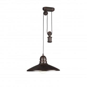 PHILIPS 37665/86/10 | Aki Philips visiace svietidlo protiváhové, nastaviteľná výška, navrhované na úsporné žiarovky 1x E27 tmavo hnedý