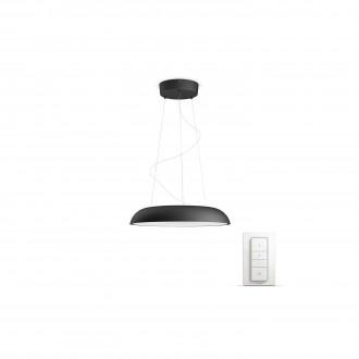 PHILIPS 40233/30/P7 | PHILIPS-hue_Amaze Philips visiace hue múdre osvetlenie kruhový diaľkový ovládač regulovateľná intenzita svetla, nastaviteľná farebná teplota 1x LED 3000lm 2200 <-> 6500K čierna, biela