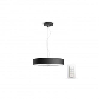 PHILIPS 40339/30/P7 | PHILIPS-hue_Fair Philips visiace hue múdre osvetlenie kruhový diaľkový ovládač regulovateľná intenzita svetla, nastaviteľná farebná teplota 1x LED 3000lm 2200 <-> 6500K čierna, biela