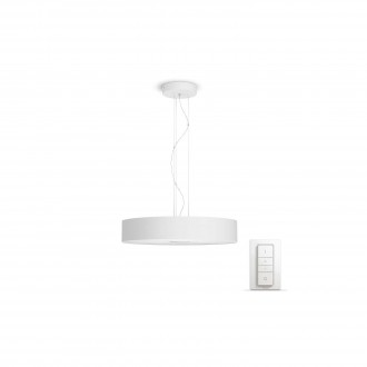 PHILIPS 40339/31/P7   PHILIPS-hue-Fair Philips visiace hue múdre osvetlenie kruhový diaľkový ovládač regulovateľná intenzita svetla, nastaviteľná farebná teplota 1x LED 3000lm 2200 <-> 6500K biela
