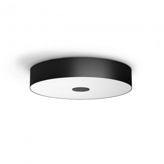 PHILIPS 40340/30/P6 | PHILIPS-hue-Fair Philips stropné hue DIM prenosný vypínač + hue múdre osvetlenie kruhový diaľkový ovládač regulovateľná intenzita svetla, nastaviteľná farebná teplota, Bluetooth 1x LED 3000lm 2200 <-> 6500K čierna, biela