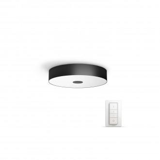PHILIPS 40340/30/P7 | PHILIPS-hue_Fair Philips stropné hue múdre osvetlenie kruhový diaľkový ovládač regulovateľná intenzita svetla, nastaviteľná farebná teplota 1x LED 3000lm 2200 <-> 6500K čierna, biela