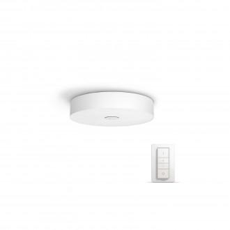 PHILIPS 40340/31/P7 | PHILIPS-hue_Fair Philips stropné hue múdre osvetlenie kruhový diaľkový ovládač regulovateľná intenzita svetla, nastaviteľná farebná teplota 1x LED 3000lm 2200 <-> 6500K biela