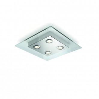 PHILIPS 40925/60/16 | MatrixP Philips stropné svietidlo regulovateľná intenzita svetla 4x LED 2000lm 2700K hliník, priesvitné