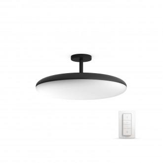 PHILIPS 40969/30/P7 | PHILIPS-hue_Cher Philips stropné hue múdre osvetlenie kruhový diaľkový ovládač regulovateľná intenzita svetla, nastaviteľná farebná teplota 1x LED 3000lm 2200 <-> 6500K čierna, biela