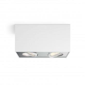 PHILIPS 50492/31/P0 | Box Philips stropné WarmGlow svietidlo štvoruholník regulovateľná intenzita svetla, otáčateľný svetelný zdroj 2x LED 1000lm 2200 <-> 6500K biela, sivé