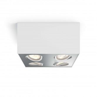 PHILIPS 50494/31/P0 | Box Philips stropné WarmGlow svietidlo štvoruholník regulovateľná intenzita svetla, otáčateľný svetelný zdroj 4x LED 2000lm 2200 <-> 6500K biela, sivé