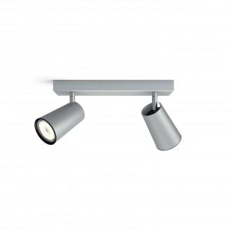 PHILIPS 50572/48/PN | Paisley Philips stenové, stropné svietidlo kruhový otočné prvky 2x GU10 hliník, čierna