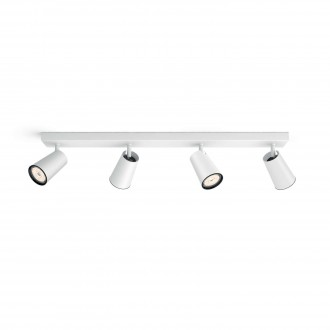 PHILIPS 50574/31/PN | Paisley Philips stenové, stropné svietidlo kruhový otočné prvky 4x GU10 biela, čierna