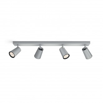 PHILIPS 50574/48/PN | Paisley Philips stenové, stropné svietidlo kruhový otočné prvky 4x GU10 hliník, čierna