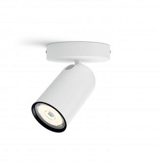 PHILIPS 50581/31/PN | Pongee Philips stenové, stropné svietidlo kruhový otočné prvky 1x GU10 biela, čierna