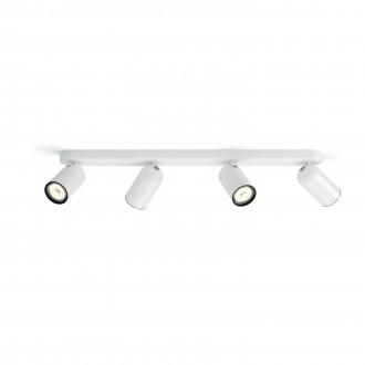 PHILIPS 50584/31/PN | Pongee Philips stenové, stropné svietidlo kruhový otočné prvky 4x GU10 biela, čierna