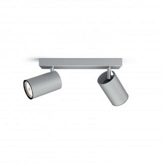 PHILIPS 50592/48/PN | Kosipo Philips stenové, stropné svietidlo kruhový otočné prvky 2x GU10 hliník