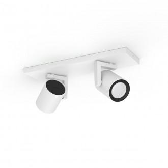 PHILIPS 50622/31/P7 | PHILIPS-hue-Argenta Philips spot hue múdre osvetlenie obdĺžnik regulovateľná intenzita svetla, meniace farbu, nastaviteľná farebná teplota, Bluetooth 2x GU10 700lm 2200 <-> 6500K biela