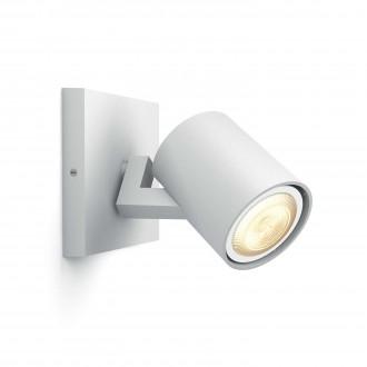 PHILIPS 53090/31/P8 | PHILIPS-hue_Runner Philips stenové, stropné hue múdre osvetlenie kruhový regulovateľná intenzita svetla, nastaviteľná farebná teplota 1x GU10 250lm 2200 <-> 6500K biela