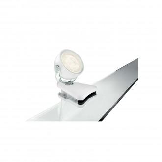 PHILIPS 53231/31/16 | Dyna Philips štipcové svietidlo prepínač na vedení otočné prvky 1x LED 270lm 2700K biela