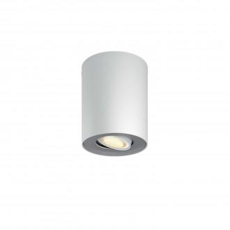 PHILIPS 56330/31/P8 | PHILIPS-hue-Pillar Philips stropné hue múdre osvetlenie kruhový regulovateľná intenzita svetla, nastaviteľná farebná teplota 1x GU10 250lm 2200 <-> 6500K biela