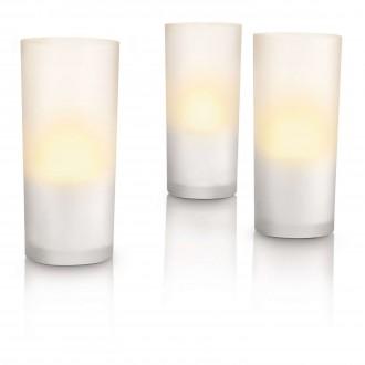 PHILIPS 69108/60/PH | CandleLights Philips dekor svietidlo 3 dielna súprava 3x LED 5lm 2700K IP65 biela