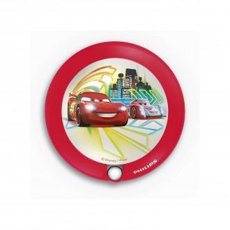 PHILIPS 71765/32/16 | Cars Philips LED nočné svetlo svietidlo pohybový senzor 1x LED 5lm 3000K červená, viacferebné
