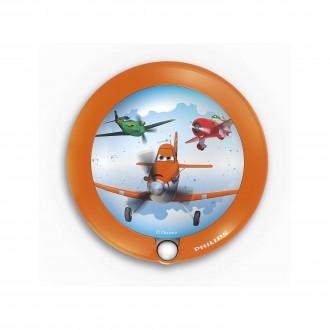 PHILIPS 71765/53/16 | Planes Philips LED nočné svetlo svietidlo pohybový senzor 1x LED 5lm 3000K pomaranč, viacferebné