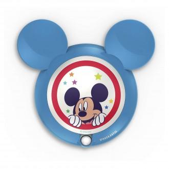 PHILIPS 71766/30/16 | Mickey_Mouse Philips LED nočné svetlo svietidlo pohybový senzor 1x LED 5lm 3000K modrá, viacferebné