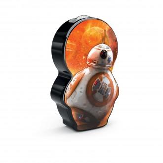 PHILIPS 71767/30/P0 | Star-Wars-BB-8 Philips prenosné baterka prepínač 1x LED 5lm 2700K pomaranč, čierna