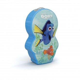 PHILIPS 71767/35/P0 | Finding-Dory Philips prenosné baterka prepínač 1x LED 5lm 2700K modrá, viacferebné
