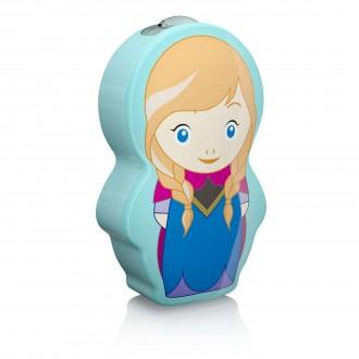 PHILIPS 71767/36/16 | Frozen Philips prenosné baterka prepínač 1x LED 5lm 2700K modrá, viacferebné