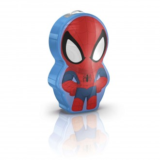 PHILIPS 71767/40/16 | Spiderman Philips prenosné baterka prepínač 1x LED 5lm 2700K viacferebné