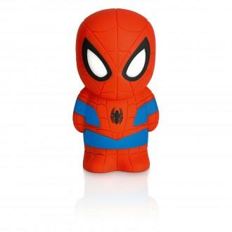 PHILIPS 71768/40/16 | SoftPal_Spiderman Philips prenosné svietidlo prepínač 2x LED 5lm 2700K červená, viacferebné