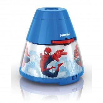 PHILIPS 71769/40/16 | Projector_Spiderman Philips náladové osvetlenie projektor dva spínače 1x LED 5lm 2700K viacferebné