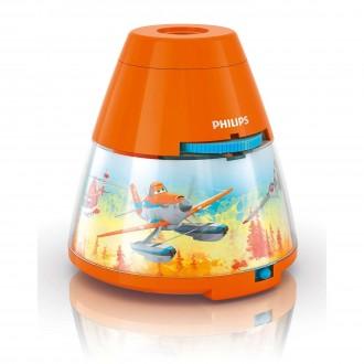 PHILIPS 71769/53/16 | Projector_Planes Philips náladové osvetlenie projektor dva spínače 1x LED 5lm + 3x LED 2700K pomaranč, viacferebné