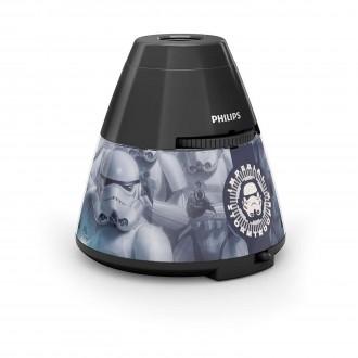 PHILIPS 71769/99/16 | Projector_Star_Wars Philips náladové osvetlenie projektor dva spínače 1x LED 5lm 2700K čierna, viacferebné