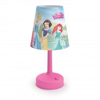 PHILIPS 71796/28/16 | Princess Philips stolové svietidlo 24,9cm prepínač 1x LED 2700K ružová, viacferebné